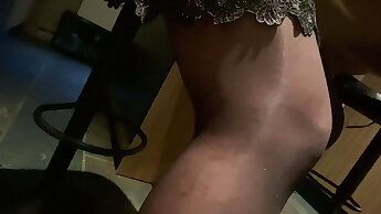 Heels and black stockings